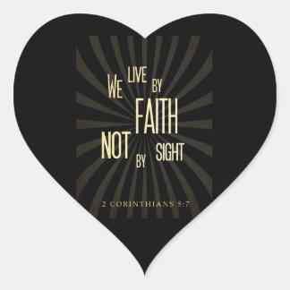 Christian Scriptural Bible 2 Corinthians 5:7 Heart Sticker