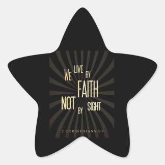Christian Scriptural Bible 2 Corinthians 5:7 Star Sticker