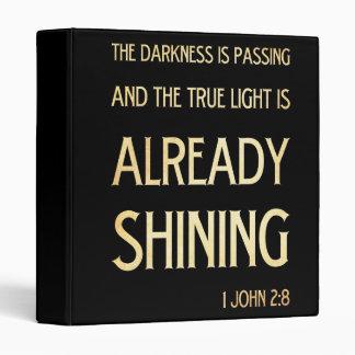 Christian Scriptural Bible Verse - 1 John 2:8 Binder
