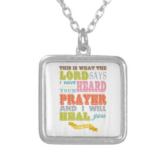 Christian Scriptural Bible Verse - 2 Kings 20:5 Silver Plated Necklace