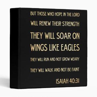 Christian Scriptural Bible Verse - Isaiah 40:31 Binder