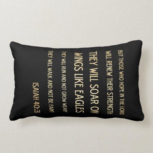 Christian Scriptural Bible Verse - Isaiah 40:31 Lumbar Pillow
