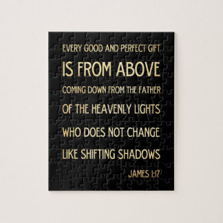 Christian Scriptural Bible Verse - James 1:17 Puzzles