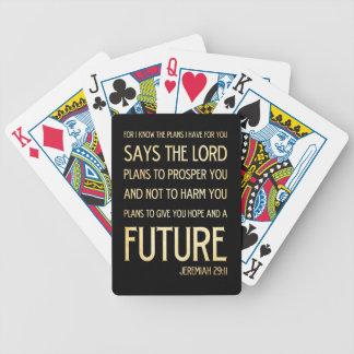 Christian Scriptural Bible Verse - Jeremiah 29:11 Bicycle Playing Cards