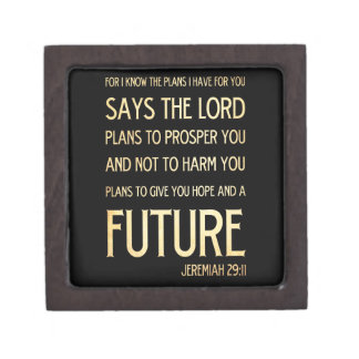 Christian Scriptural Bible Verse - Jeremiah 29:11 Gift Box
