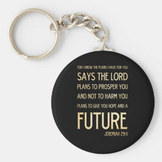 Christian Scriptural Bible Verse - Jeremiah 29:11 Keychain