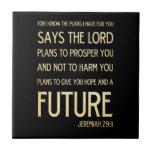 Christian Scriptural Bible Verse - Jeremiah 29:11 Tile