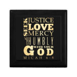 Christian Scriptural Bible Verse - Micah 6:8 Keepsake Box