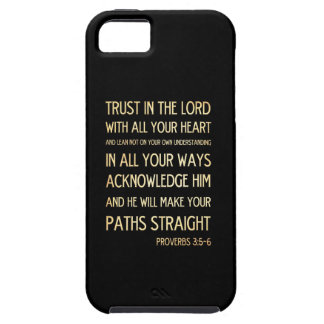 Christian Scriptural Bible Verse - Proverbs 3:5-6 iPhone SE/5/5s Case