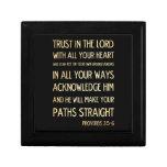 Christian Scriptural Bible Verse - Proverbs 3:5-6 Trinket Box