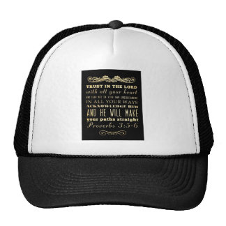 Christian Scriptural Bible Verse - Proverbs 3:5-6 Trucker Hat