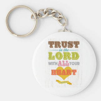 Christian Scriptural Bible Verse - Proverbs 3:5 Keychain