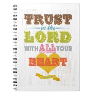 Christian Scriptural Bible Verse - Proverbs 3:5 Notebook