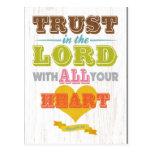 Christian Scriptural Bible Verse - Proverbs 3:5 Postcard
