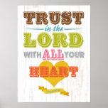 Christian Scriptural Bible Verse - Proverbs 3:5 Poster