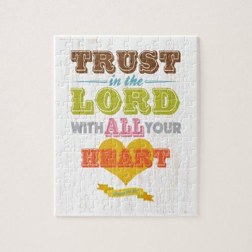 Christian Scriptural Bible Verse - Proverbs 3:5 Puzzles