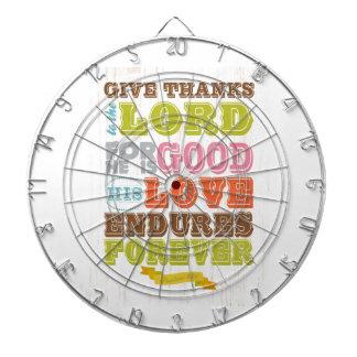 Christian Scriptural Bible Verse - Psalm 107:1 Dartboard