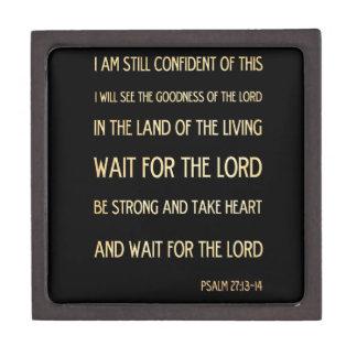 Christian Scriptural Bible Verse - Psalm 27:13-14 Jewelry Box