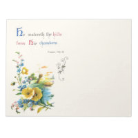 Christian Scripture And Pretty Flowers Notepad