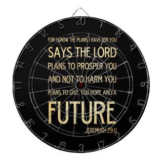 Christian Scripture Bible Verse Art Jeremiah 29:11 Dart Boards