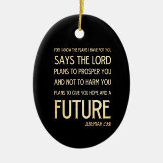 Christian Scripture Bible Verse Art Jeremiah 29:11 Christmas Tree Ornament
