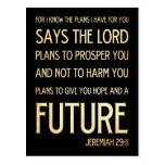 Christian Scripture Bible Verse Art Jeremiah 29:11 Postcards