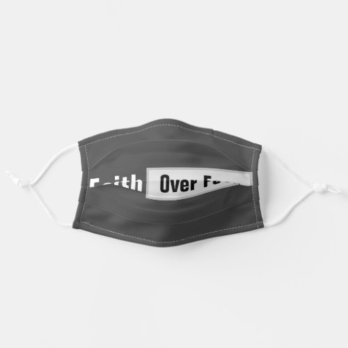 christian scripture faith over fear cloth face mask