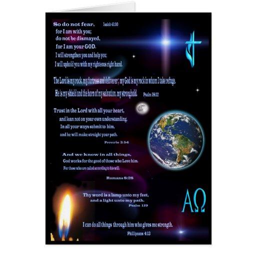 Christian scriptures art card greeting cards