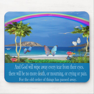 Christian scriptures art mouse pad