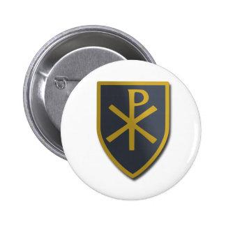 Christian Shield 2 Inch Round Button
