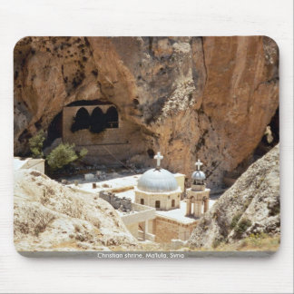 Christian shrine, Ma'lula, Syria Mouse Pad
