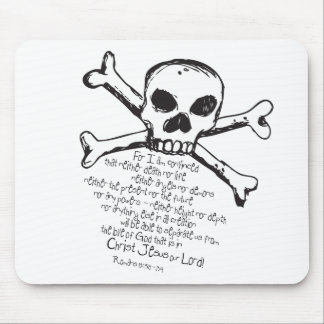 Christian Skull Mouse Pad