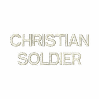 CHRISTIAN SOLDIER EMBROIDERED HOODED SWEATSHIRT