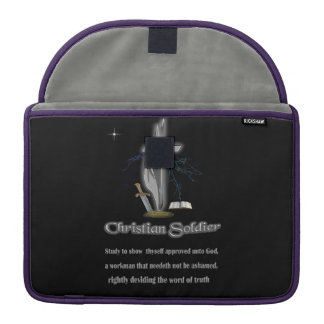 Christian soldier merchandise MacBook pro sleeve