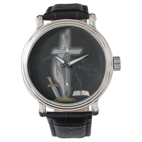 Christian soldier merchandise wristwatch