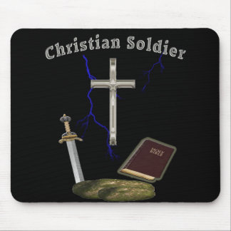 Christian soldier mouse pad