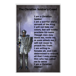 Christian Soldiers Creed Poster