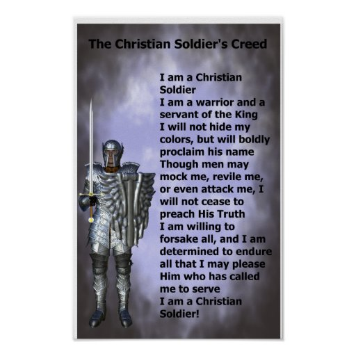 Christian Soldiers Creed Print