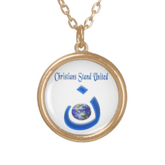 Christian solidarity jewlery gold plated necklace
