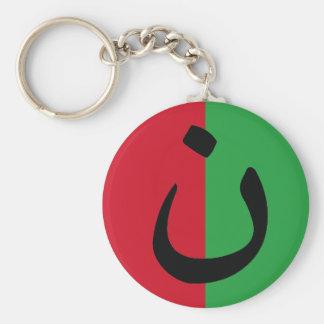 Christian Solidarity Nasrani Iraq Flag Colors Keychain
