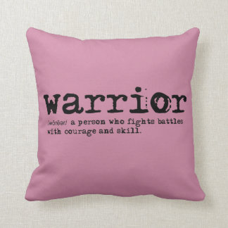 Christian Spiritual Reversible WARRIOR DEFINITION Throw Pillow
