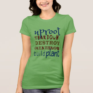 Christian Spiritual Warfare UPROOT & TEAR DOWN T-Shirt