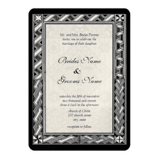 Christian Stained Glass Cross Wedding Invitation