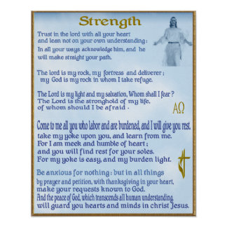 christian strengh scripture poster
