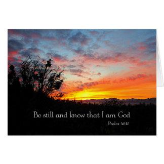 Christian Sunset Landscape Photo Creationarts Card