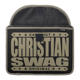 CHRISTIAN SWAG - God Loves Brave Virtuous Warriors MacBook Pro Sleeve
