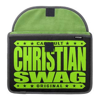 CHRISTIAN SWAG - God Loves Brave Virtuous Warriors Sleeve For MacBooks