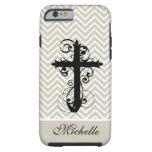 Christian Swirling Cross Custom iPhone 6 Case