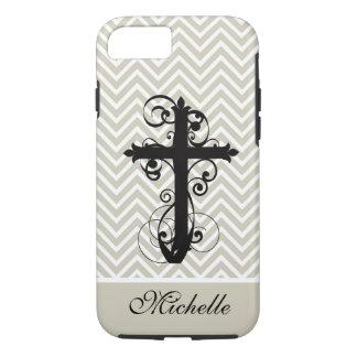 Christian Swirling Cross Custom iPhone 7 Case