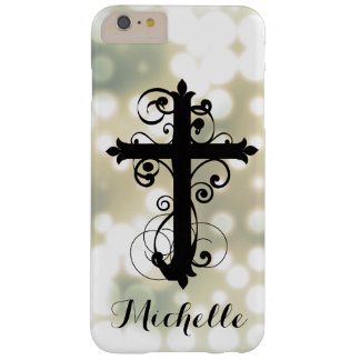 Christian Swirling Cross Custom iPhone Case Barely There iPhone 6 Plus Case